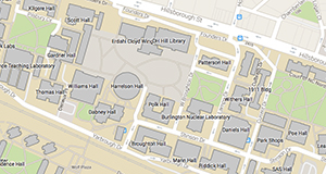 Map of NC State''s North Campus